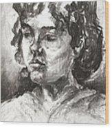 Uta With Short Hair Wood Print