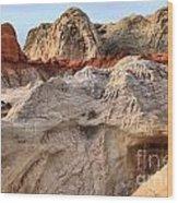 Utah Badlands Wood Print