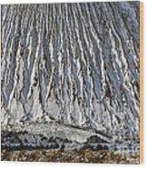 Utah Copper Mine Tailings Pile In Winter Wood Print
