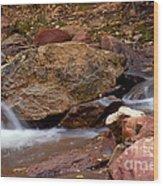 Utah Creek Cascades Wood Print