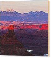 Utah Desert Sunset Panorama Wood Print