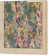 Utah Map Vintage Watercolor Wood Print