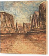 Utah Red Rocks - Landscape Art Wood Print