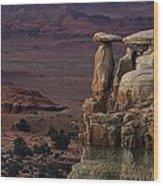 Utah Sentry Wood Print