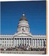 Utah State Capitol Building Wood Print