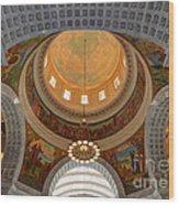 Utah State Capitol Rotunda Interior Archways Wood Print by Gary Whitton