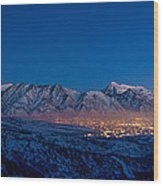 Utah Valley Wood Print by Chad Dutson