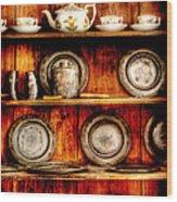 Utensils - In The Cupboard Wood Print