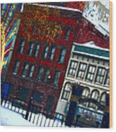 Utica In The Winter Wood Print by Stephanie Grooms