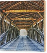 Utica Mills Covered Bridge Wood Print
