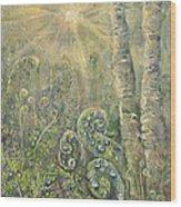 Utopia Fiddle Light Wood Print