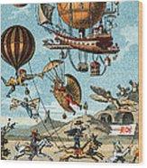 Utopian Flying Machines 19th Century Wood Print