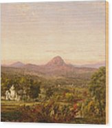 Autumn Landscape Sugar Loaf Mountain. Orange County  New York Wood Print