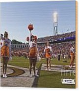 Uva Cheerleaders Wood Print