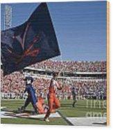 Uva Virginia Cavaliers Football Touchdown Celebration Wood Print