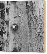 V Na 3 Bolts Tex Bw Wood Print