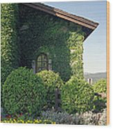 V Sattui Winery Vintage View Wood Print by Michelle Wiarda