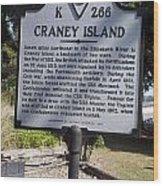 Va-k266 Craney Island Wood Print