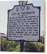 Va-q8i City Of Portsmouth Wood Print