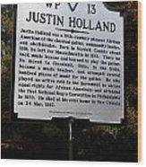 Va-wp13 Justin Holland Wood Print