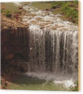 Vacation At Lower Navajo Falls Wood Print