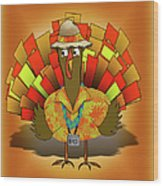 Vacation Turkey Illustration Wood Print