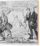 Vaccination Cartoon, 1808 Wood Print
