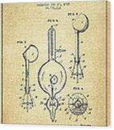 Vacuum Tube Patent From 1905 - Vintage Wood Print