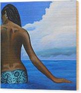 Vahine De Tahiti Wood Print