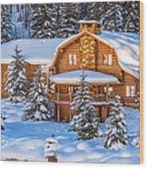 Vail Chalet Wood Print