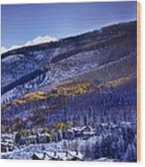 Vail Sunrise Wood Print