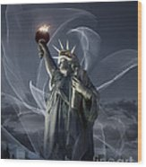 Light Of Liberty Wood Print