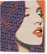 Vain Portrait Of A Woman Wood Print