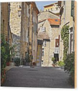 Valbonne - French Village Of Contradictions Wood Print by Christine Till