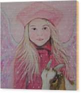Valentina Little Angel Of Perseverance And Prosperity Wood Print by The Art With A Heart By Charlotte Phillips