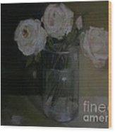 Valentine Blush Roses                    copyrighted Wood Print