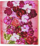 Valentine Flowers For You Wood Print