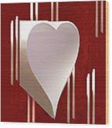 Valentine Paper Heart Wood Print