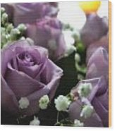 Valentine Purple Wood Print