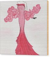 Valentine Red   Wood Print by Christine Corretti