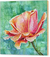 Valentine Rose Wood Print
