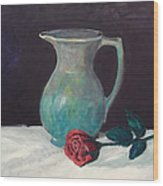 Valentine Rose Wood Print by Peter Edward Green