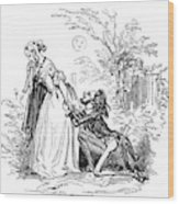 Valentines Day, 1855 Wood Print