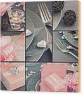 Valentine's Day  Collage Wood Print