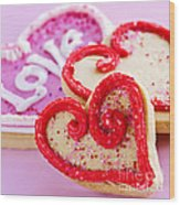 Valentines Hearts Wood Print