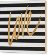 Valentines Stripes Iv Wood Print