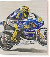 Valentino Rossi Wood Print