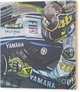 Valentino Rossi - The Doctor Wood Print