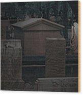 Valeria Butzloff Statue With Wreath Moonlight Near Infrared Wood Print