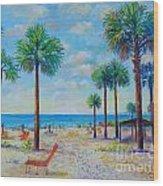Valerie's View Of Siesta Key Wood Print